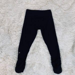 LuLulemon cropped leggings cute gathered design